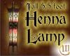 5.5 Foot Tall Henna Lamp