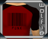 Punk Barcode Tee Red