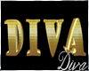 MP DIVA Gold Letters