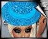 d3✠ Glitter Hat Turq