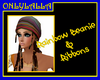 Rainbow Beanie & Ribbons