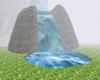 Dark Stone Waterfall