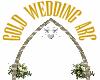 Gold Wedding Arc