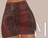 Red Snake Skirt | L