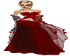 Krisha Rose Red Ballgown