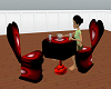 love romance diner table