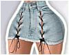 -A- Laced Denim Skirt