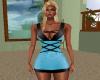 Sharona Light Aqua Dress