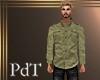 PdT Khaki Linen shirt M