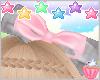 ! Grey Pink Bow Headband