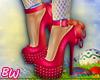 Pink Ribbon Heels - B