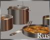 Rus Rose Gold Pot Set