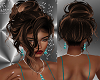 FG~ Brown Streak Updo