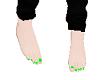 green perfect feet
