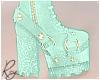 Mint Glitter Heels