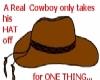 Real Cowboy's Hat