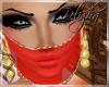 [B] Arabic veil red