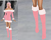 TF* Pink & White Boots