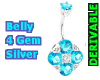 Belly 4 Gem Silver