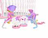 Kawaii Pink Food Bowls