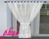 PHAE Sheer White Curtain