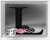 ~2T~ L  Black Pink Rose