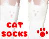 Cats Socks White