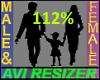 112% Tall