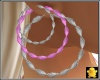 C2u Pink Tri-Hoops