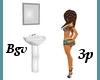 Bathroom Sink wMirror 3p