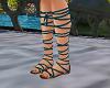Teal Gladiator Sandals