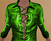 Green Leather Shirt (M)