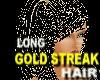 Gold Streaked black Hair