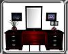 Blk & Red Dresser