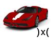 )x( Ferrari Red/Wht Str.