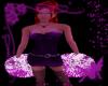 purple & pink pompoms