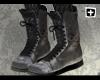 [+] Black Combat Boots|F