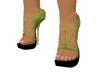 Green straps pumps