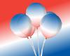 Bastille Day Balloons