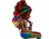 kid mermaid rainbow hair