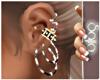 S! Earrings Silver/Black