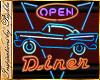 I~Diner 'OPEN' Neon Sign