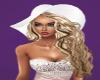 Aya blonde/white hat