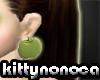 kn ** apple earings **
