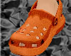 *CROCS Orange Shoes