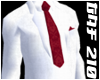 White Suit w/Red Tie