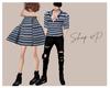 couple striped blue F