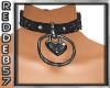 Silver Heart Collar