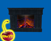 Midnight Blue Fireplace