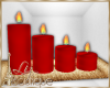 RED CANDLES TRAY